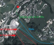 Les Gets Property for sale Aerial Map