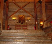 Luxury Chalets for sale Megeve stairs